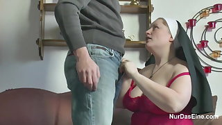 German Young manhood seduce Granny Nun to Be captivated by Him