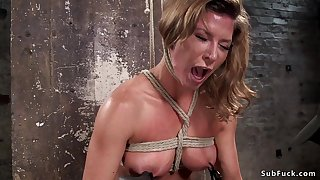 Busty Tits slave rough vagina with the addition of booty had intercourse