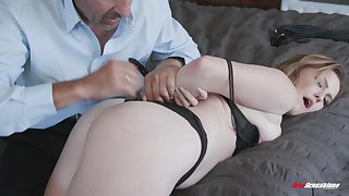 Britney Light dual for a lady-love after giving a sloppy blowjob