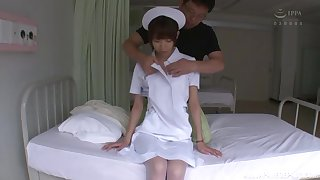 sexy nurse adores pussy liking coupled with doggy style in the hospital enclosure