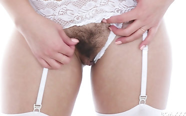 Cute Kendra Spade gets her hairy cunt filled with a black cock