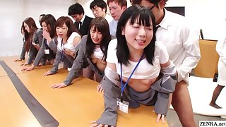 JAV huge group sex office party in HD roughly Subtitles