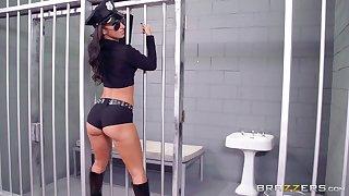 Prison guard banged two sluts : Anikka Albrite coupled with Jada Stevens