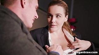 Busty associate Natasha Nice offers himself after a hard day's work