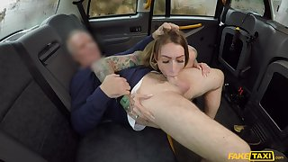Oversexed girl Ava Austen gives her older cab driver a special gift