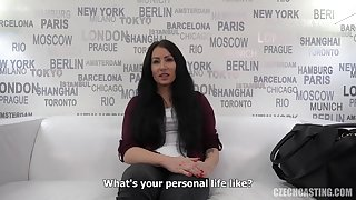 Barbora is a black haired catholic who got fucked by way of a labour interview and liked it