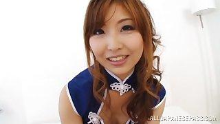 POV movie of Japanese darling Hikari Kasumi huge head to the brush pauper