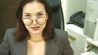 This sexy grumble is a tyrannical office battle-axe and she loves to masturbate for me