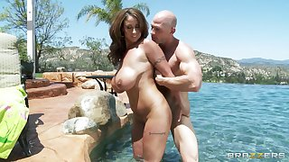 Busty wife Eva Notty takes a dick in the brush frowardness plus wet pussy