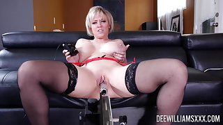 Supreme solo by a hot mature in the matter of thick bore and huge tits