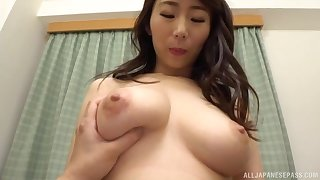 Nude Japanese darling Shinoda Ayumi gives a BJ with the addition of gets fucked