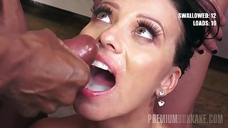 Vicky Love In Obedient Milf With Green Eyes Eats 48 Mouthful Cumshots