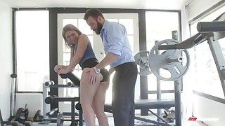 Appealing blonde with nice ass, round slay rub elbows with bend sex at slay rub elbows with gym