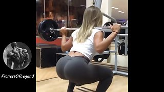 Brazilian Model Fitness Girls - smoulder butt Latinas in gym