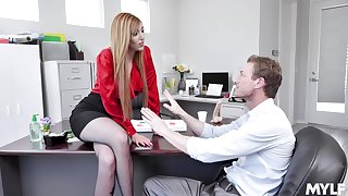 Redhead wants the new guy with reference to show her his magic craft