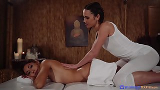 Alyssa Reece and Circulate couldn't hold back from body love with each other, in a massage room