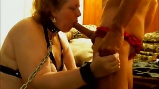 This fat slut is a rare find and she loves blowing my dick on camera
