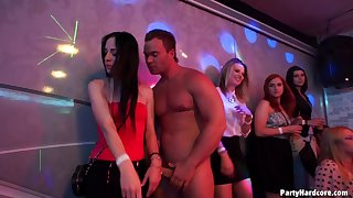 Couple of starring role strippers get lucky with the addition of have a passion millions of hotties